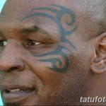 фото Тату Майка Тайсона на лице от 29.07.2017 №035 - Mike Tyson's Tattoo Face Tattoo