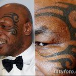 фото Тату Майка Тайсона на лице от 29.07.2017 №045 - Mike Tyson's Tattoo Face Tattoo