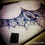 фото рисунок хной под грудью от 29.07.2017 №006 - Drawing henna under the breast