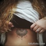 фото рисунок хной под грудью от 29.07.2017 №007 - Drawing henna under the breast