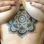 фото рисунок хной под грудью от 29.07.2017 №013 - Drawing henna under the breast 3543464224