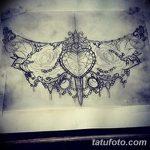 фото рисунок хной под грудью от 29.07.2017 №020 - Drawing henna under the breast
