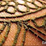 фото рисунок хной под грудью от 29.07.2017 №033 - Drawing henna under the breast
