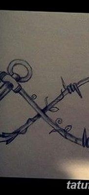 фото тату колючая проволока от 26.07.2017 №022 – Tattoo barbed wire_tatufoto.com