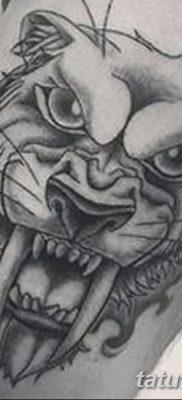 фото тату саблезубый тигр от 25.07.2017 №005 – Tattoo saber-toothed tiger