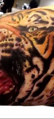 фото тату саблезубый тигр от 25.07.2017 №012 – Tattoo saber-toothed tiger