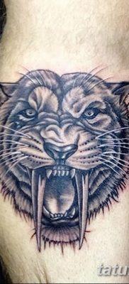 фото тату саблезубый тигр от 25.07.2017 №019 – Tattoo saber-toothed tiger