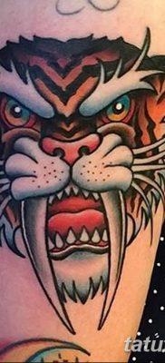 фото тату саблезубый тигр от 25.07.2017 №020 – Tattoo saber-toothed tiger
