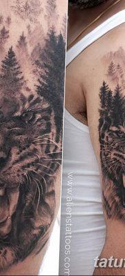 фото тату саблезубый тигр от 25.07.2017 №034 – Tattoo saber-toothed tiger