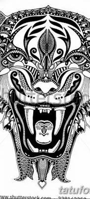 фото тату саблезубый тигр от 25.07.2017 №046 – Tattoo saber-toothed tiger