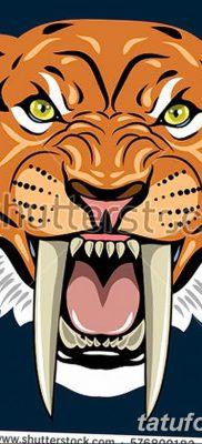 фото тату саблезубый тигр от 25.07.2017 №047 – Tattoo saber-toothed tiger