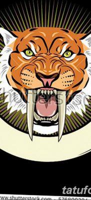 фото тату саблезубый тигр от 25.07.2017 №048 – Tattoo saber-toothed tiger