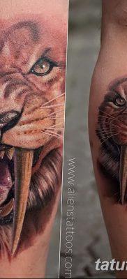 фото тату саблезубый тигр от 25.07.2017 №049 – Tattoo saber-toothed tiger