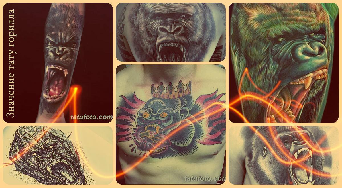 Значение тату горилла - фото примеры рисунков готовых татуировок