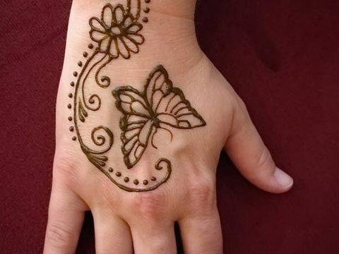 фото Мехенди бабочка от 01.08.2017 №069 - Mehendi Butterfly_tatufoto.com
