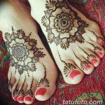 фото Мехенди на пальцах ног от 18.08.2017 №001 - Mehendi on toes_tatufoto.com
