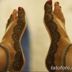 фото Мехенди на пальцах ног от 18.08.2017 №002 - Mehendi on toes_tatufoto.com