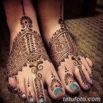 фото Мехенди на пальцах ног от 18.08.2017 №004 - Mehendi on toes_tatufoto.com