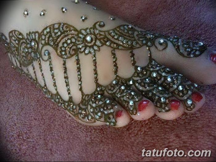 фото Мехенди на пальцах ног от 18.08.2017 №005 - Mehendi on toes_tatufoto.com