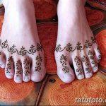 фото Мехенди на пальцах ног от 18.08.2017 №006 - Mehendi on toes_tatufoto.com