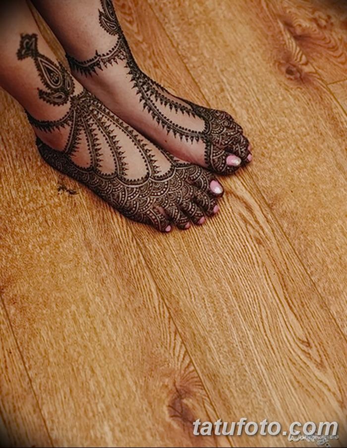 фото Мехенди на пальцах ног от 18.08.2017 №007 - Mehendi on toes_tatufoto.com