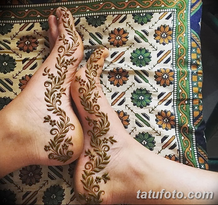 фото Мехенди на пальцах ног от 18.08.2017 №009 - Mehendi on toes_tatufoto.com