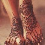 фото Мехенди на пальцах ног от 18.08.2017 №010 - Mehendi on toes_tatufoto.com