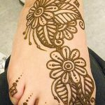 фото Мехенди на пальцах ног от 18.08.2017 №011 - Mehendi on toes_tatufoto.com