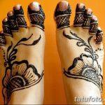 фото Мехенди на пальцах ног от 18.08.2017 №021 - Mehendi on toes_tatufoto.com