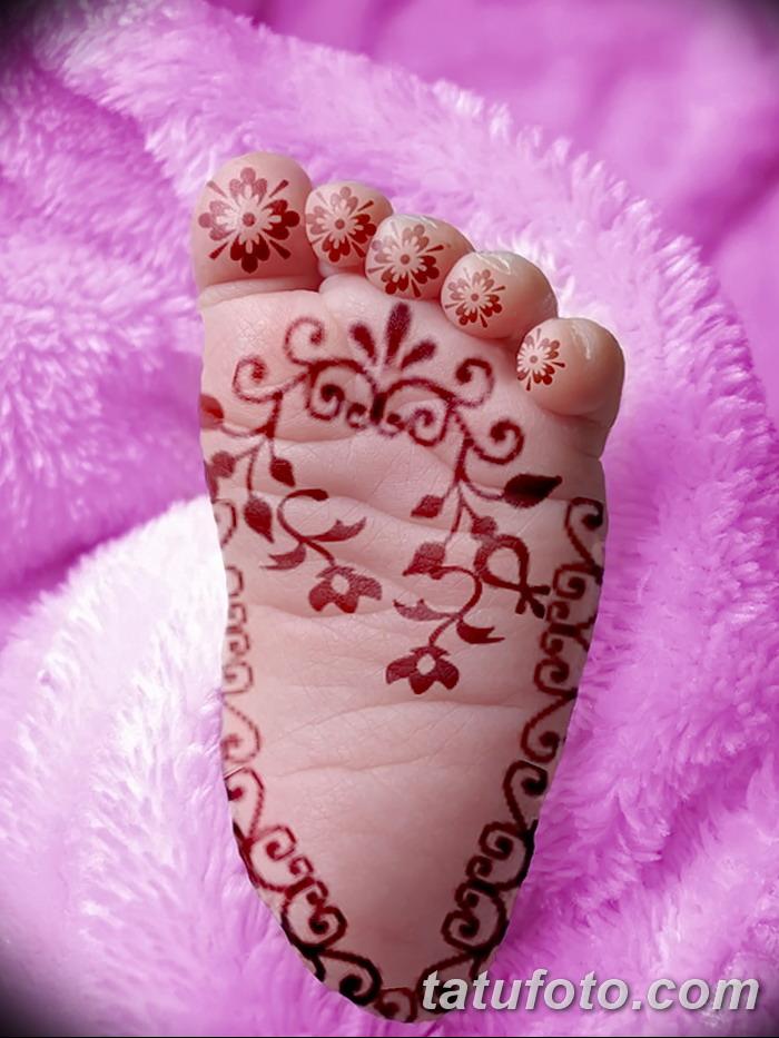 фото Мехенди на пальцах ног от 18.08.2017 №023 - Mehendi on toes_tatufoto.com