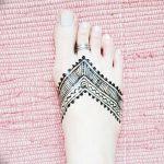 фото Мехенди на пальцах ног от 18.08.2017 №024 - Mehendi on toes_tatufoto.com