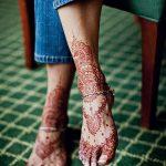 фото Мехенди на пальцах ног от 18.08.2017 №025 - Mehendi on toes_tatufoto.com