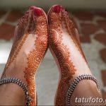 фото Мехенди на пальцах ног от 18.08.2017 №031 - Mehendi on toes_tatufoto.com