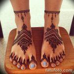 фото Мехенди на пальцах ног от 18.08.2017 №034 - Mehendi on toes_tatufoto.com