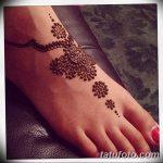 фото Мехенди на пальцах ног от 18.08.2017 №035 - Mehendi on toes_tatufoto.com