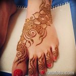 фото Мехенди на пальцах ног от 18.08.2017 №038 - Mehendi on toes_tatufoto.com