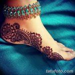 фото Мехенди на пальцах ног от 18.08.2017 №042 - Mehendi on toes_tatufoto.com