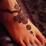 фото Мехенди на пальцах ног от 18.08.2017 №045 - Mehendi on toes_tatufoto.com