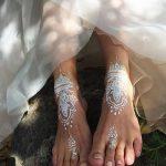 фото Мехенди на пальцах ног от 18.08.2017 №046 - Mehendi on toes_tatufoto.com