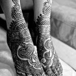 фото Мехенди на пальцах ног от 18.08.2017 №049 - Mehendi on toes_tatufoto.com