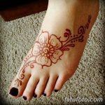 фото Мехенди на пальцах ног от 18.08.2017 №050 - Mehendi on toes_tatufoto.com