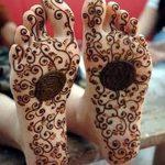 фото Мехенди на пальцах ног от 18.08.2017 №058 - Mehendi on toes_tatufoto.com