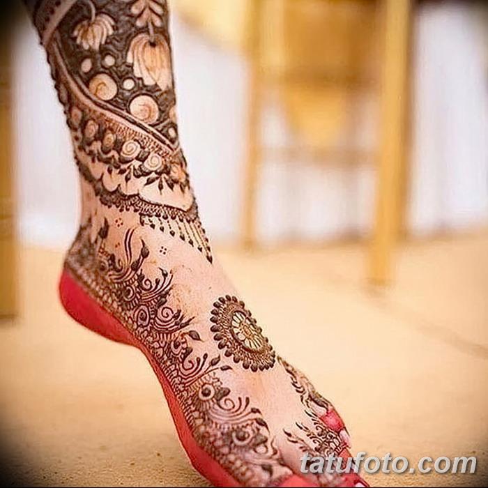 фото Мехенди на пальцах ног от 18.08.2017 №060 - Mehendi on toes_tatufoto.com
