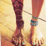 фото Мехенди на пальцах ног от 18.08.2017 №062 - Mehendi on toes_tatufoto.com