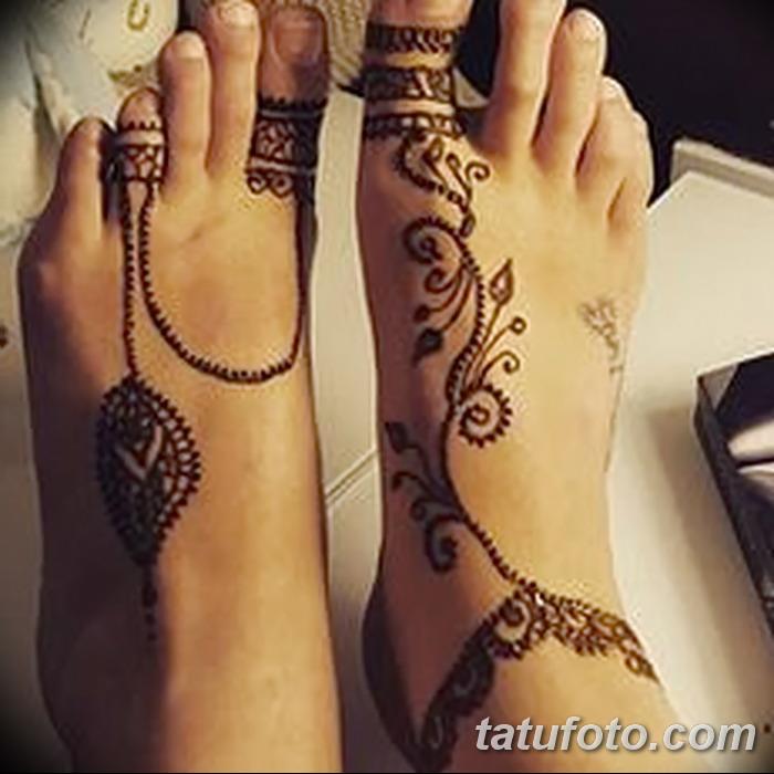 фото Мехенди на пальцах ног от 18.08.2017 №063 - Mehendi on toes_tatufoto.com