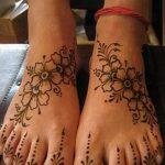 фото Мехенди на пальцах ног от 18.08.2017 №067 - Mehendi on toes_tatufoto.com