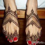 фото Мехенди на пальцах ног от 18.08.2017 №069 - Mehendi on toes_tatufoto.com