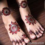 фото Мехенди на пальцах ног от 18.08.2017 №070 - Mehendi on toes_tatufoto.com