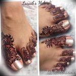 фото Мехенди на пальцах ног от 18.08.2017 №071 - Mehendi on toes_tatufoto.com