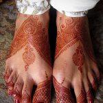фото Мехенди на пальцах ног от 18.08.2017 №072 - Mehendi on toes_tatufoto.com